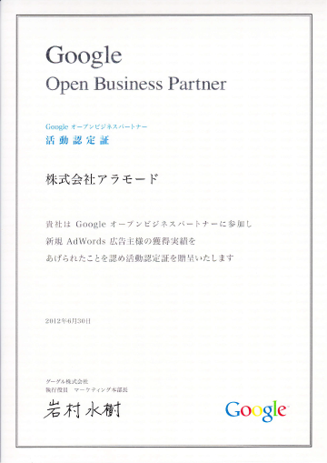 Google Open Business Partner